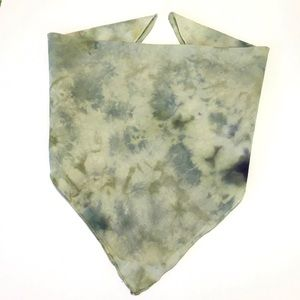 Tie Dye Bandana Ice Dye Green Watercolors New